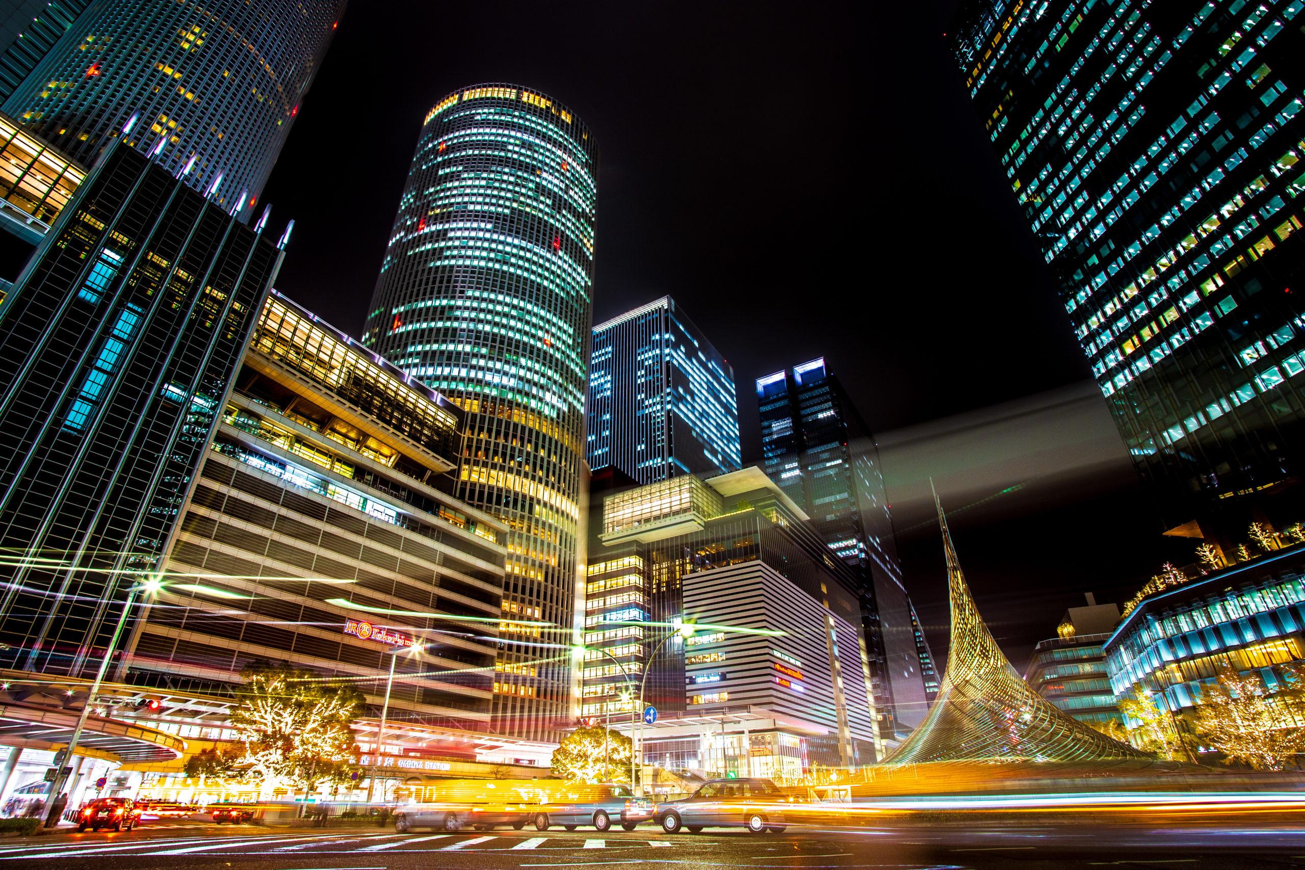 名古屋駅前(愛知県名古屋市)| 夜景撮影の画像