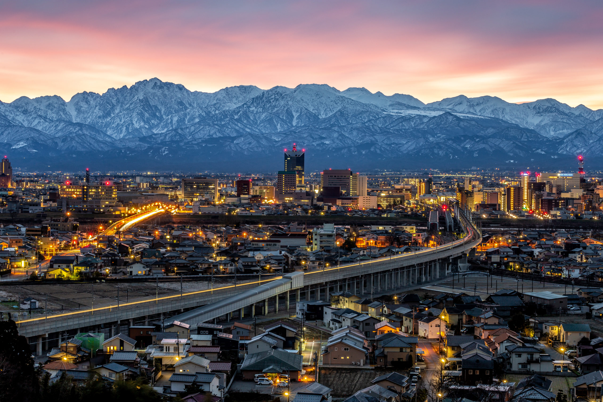 呉羽山(富山県富山市)| 夜景撮影の画像
