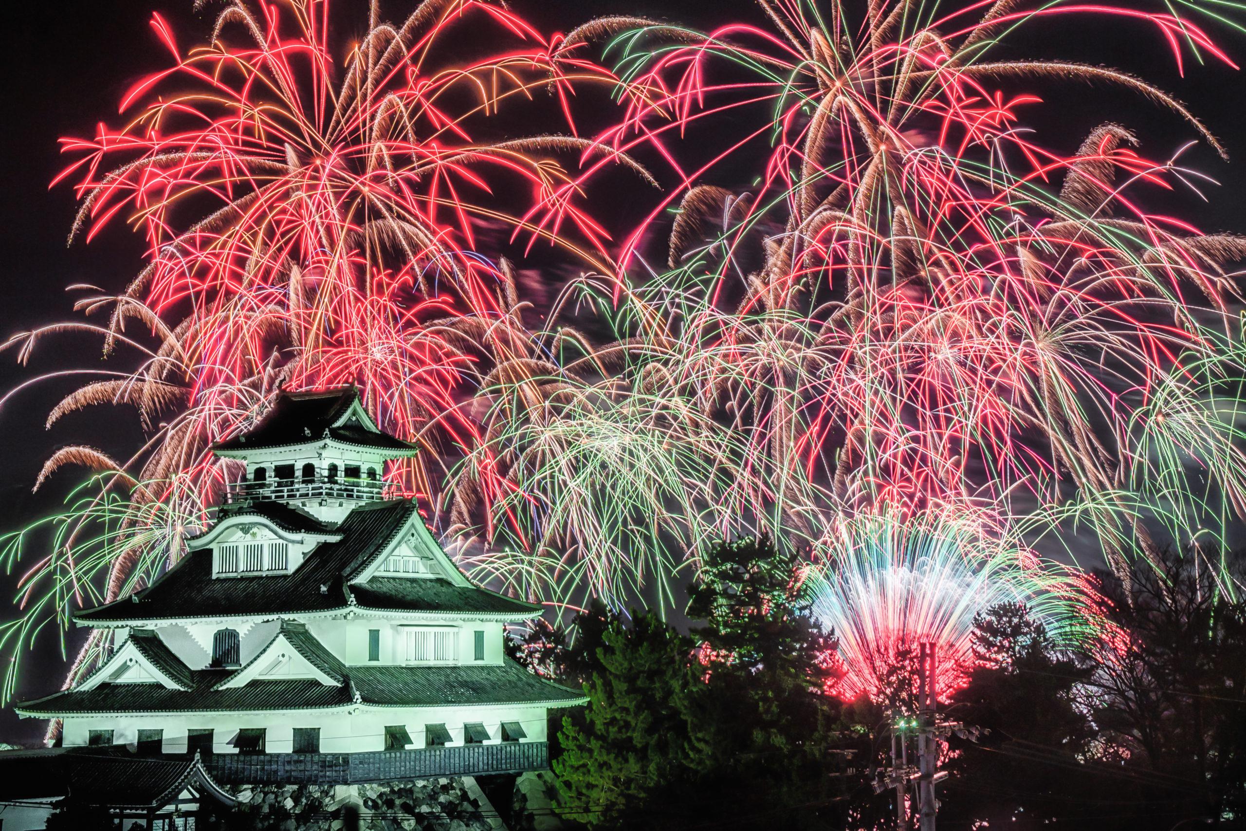 長浜ロングラン花火(滋賀県長浜市)  観光PR写真撮影の画像